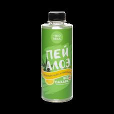 Напиток безалкогольный «ПЕЙ AЛОЭ» с алоэ, зелёным чаем и лимоном